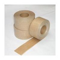 厂家批发湿水夹筋牛皮纸胶带 水性纤维牛皮纸封箱带