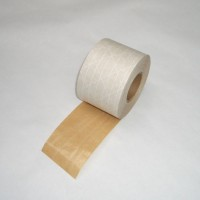 夹筋湿水牛皮纸 纤维牛皮纸胶带 带线条牛皮纸胶带