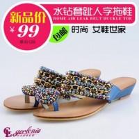 高奈利亚女鞋 真皮女鞋 拖鞋 沙滩鞋 凉鞋 夏季新品 鞋加盟