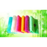 6色竹纤维洗碗抹布 彩色百洁布不沾油 易清洗双层加厚
