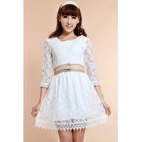 蕾丝公主连衣裙 韩版连衣裙