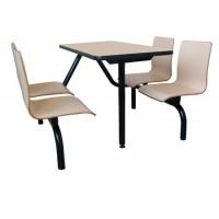 广州餐厅桌椅,广州连体快餐桌椅,四人位餐桌椅(图)