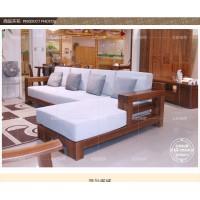 上海北欧绿荫出售黑胡桃实木转角沙发工厂直销可定制