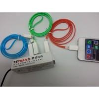 厂家苹果I4单扁单色发光线价格苹果I4单扁单色发光线