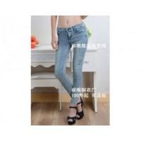秋装直销便宜的弹力牛仔裤批发网中国人穿修身款的打底裤批发