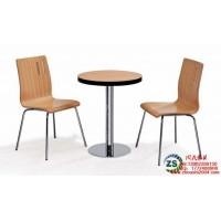 供应快餐厅曲木餐桌椅定做价格