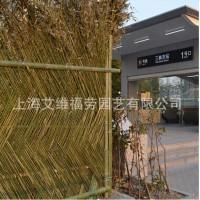 竹篱笆传统墙篱笆竹围栏竹栅栏地铁11号线三林东站