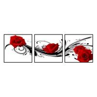 郑州【红玫瑰】镜面水晶无框画  多少钱  厂家直供