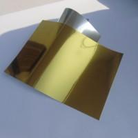 弱溶剂防水光金光银胶片 光金光银相纸 仿光面金银箔
