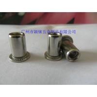 不锈钢/碳钢铁铝平头竖纹铆螺母,GB17880.1平头拉帽