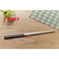 现货供应不锈钢筷子 黑金高档筷子 半镀金高档筷子