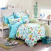 春夏全棉活性床上用品韩式简约纯棉床单被套四件套厂家批发定制