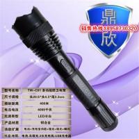 电击强光手电筒-X8黑鹰电棍-电击防身手电