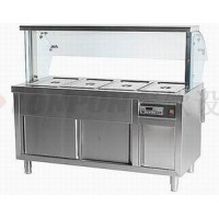 厨房售饭系列:四格电脑新款售饭台