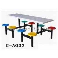 工厂饭堂餐桌椅,8人位玻璃钢餐桌椅,广东餐厅家具工厂价格批发