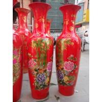 北京1.6米大花瓶价格,清明上河图陶瓷大花瓶红色大花瓶
