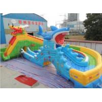 龙鲨嬉水乐园,充气水滑梯