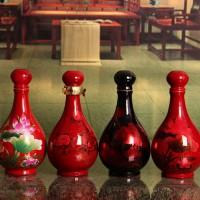 景德镇定做陶瓷酒瓶便宜厂家,一斤旗袍酒瓶定做批发