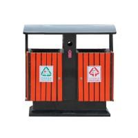 广州易居批发定制户外垃圾桶 钢木垃圾桶 分类果皮箱垃圾箱