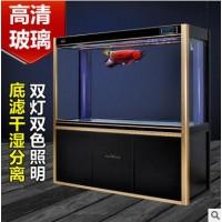 YEE大型水族箱中型玻璃生态龙鱼缸底过滤下过滤大鱼缸