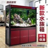 YEE高档生态水族箱靠墙高清玻璃大型中型底过滤龙鱼缸