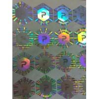 六边形激光防伪标签 东莞印刷商标 流水号打码防伪标