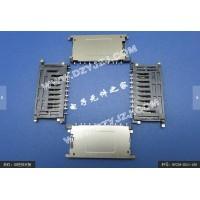 工控主板带检测SD 11P短体沉板1.0斜定位柱卡座