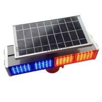 新款太阳能警示灯 太阳能爆闪灯 四灯爆闪灯 双面警示灯